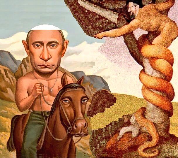В храме на Львовщине нарисовали горящего в аду Путина - Цензор.НЕТ 2338