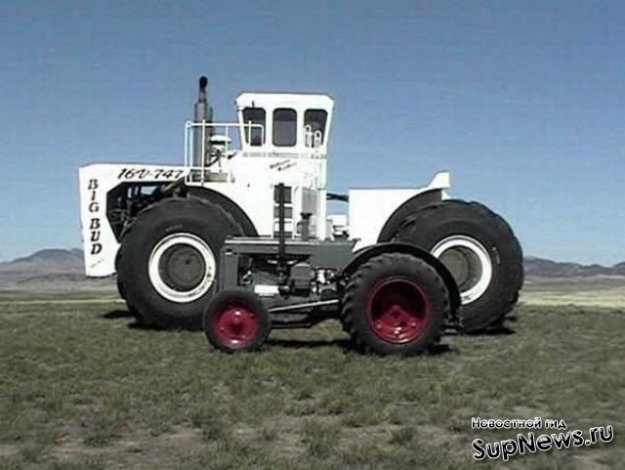 Гигантский паровой трактор Хорнсби - Необычная техника
