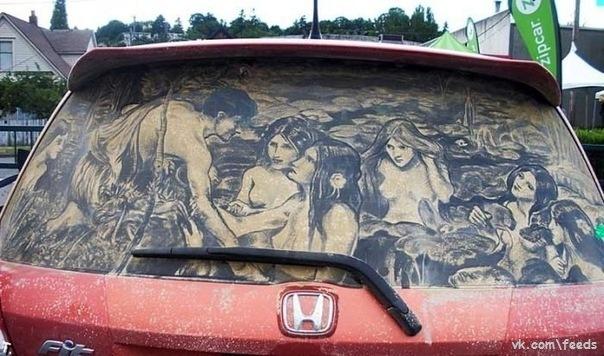 рисунки на машинах: