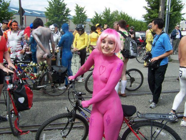 ����� ���������� London Naked Bike Ride 2010
