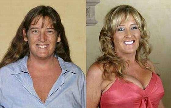 до и после фото макияж: