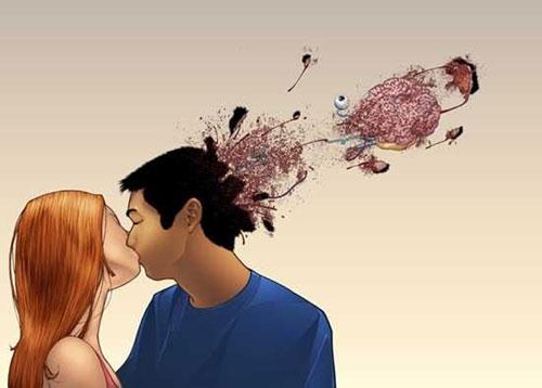 прикольные фото с поцелуями