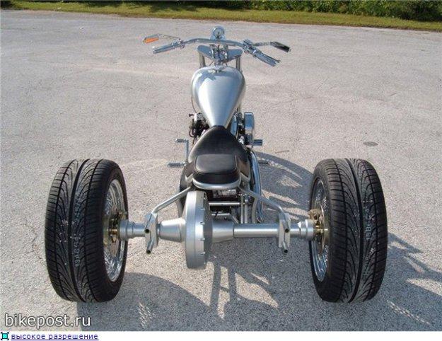 Мопед с тремя колесами