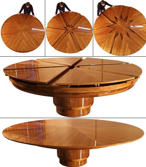 Как сделать круглый Раздвижной обеденный стол трансформер своими руками