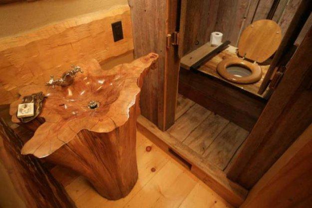 Rustic Log Bathroom Decor  The Log Furniture Store