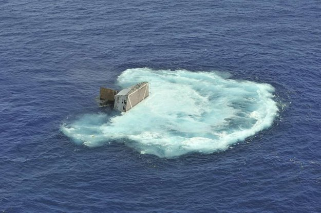 подводные лодки во время шторма