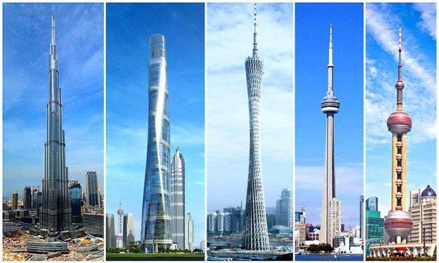 Самый большие небоскребы в мире