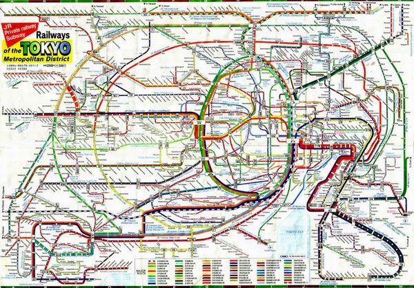 Карта Токийского метро