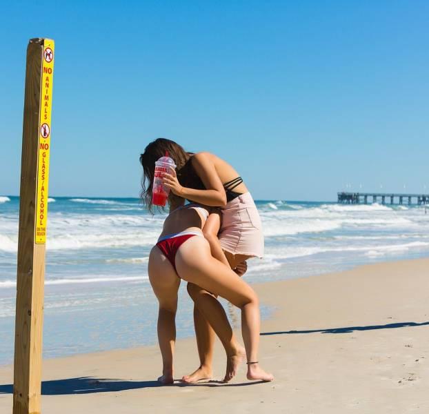Видео для и взрослых на пляже что