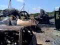 Силовики показали разбитую колонну российской техники (видео)