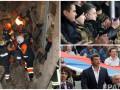 Неделя в фото: обвал дома в Киеве, Порошенко на футболе и год без Немцова