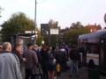 В Киеве засняли огромную очередь на автобус