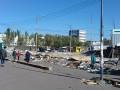 Возле метро Лесная в Киеве сносят МАФы