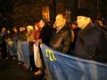 На Банковой прошел митинг солидарности с участниками блокады Крыма