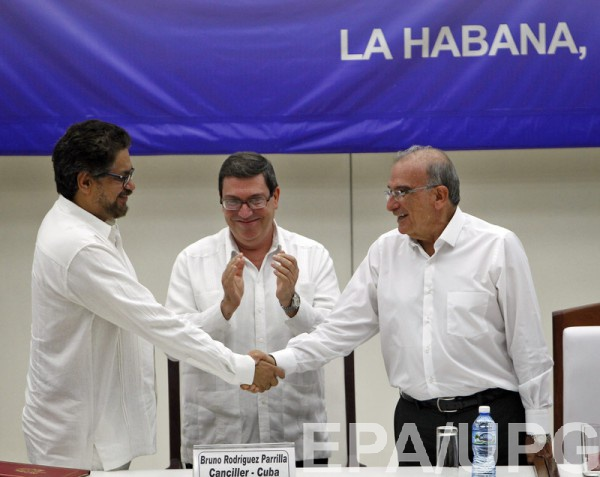 Исторического соглашения достигли власти Колумбии иповстанческая группировка ФАРК