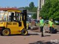 В Николаеве демонтируют постамент Ленину