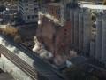 Взрыв элеватора в Харькове засняли с высоты птичьего полёта