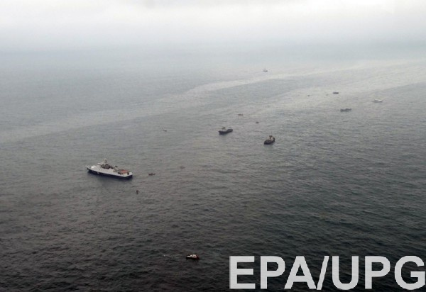 Обнародован спутниковый снимок места крушения Ту-154 вЧерном море