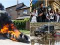 День в фото: Савченко на Банковой, шины у дома Розенко и наводнение в Македонии