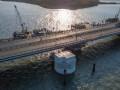 На Керченском мосту строят очистные сооружения