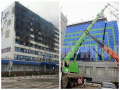 В Грозном за три недели полностью отстроили сгоревший Дом печати