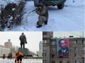 День в фото: Учения в снегу, взорванный Ленин и Обама на плакате