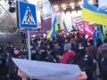Порошенко в Житомире: Нацкорпус вышел на митинг