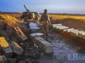 Военные корреспонденты показали, как воюют артиллеристы в Песках
