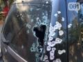 В Запорожье обстреляли внедорожник