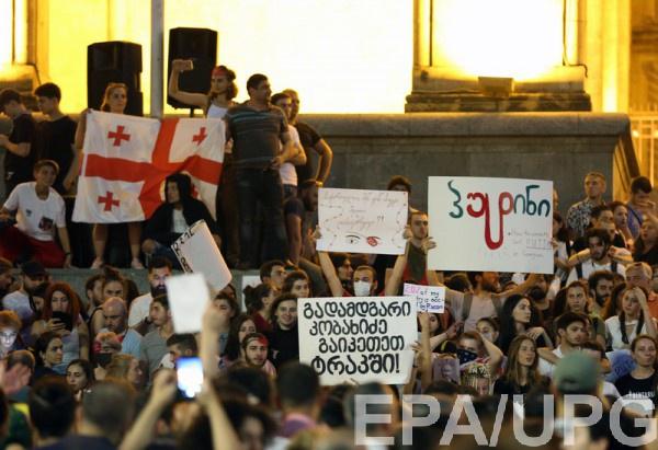 В Грузии массовые протесты начались после визита российских депутатов