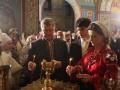 Порошенко посетил пасхальное богослужение
