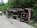 На Закарпатье перевернулся рейсовый автобус, есть жертвы
