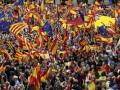 В Каталонии тысячи людей вышли на протест против референдума