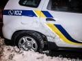 В Киеве такси врезалось в автомобиль полиции
