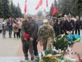 Чиновники Белой Церкви и нардеп шли под коммунистическими флагами