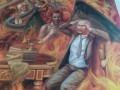 Горящий в аду Путин украсил храм во Львовской области