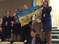 Во время выступления Путина в ООН в зале развернули флаг из-под Иловайска