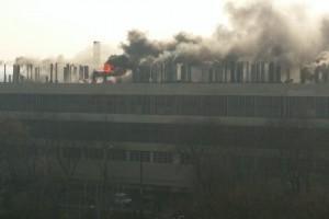 Масштабный пожар на заводе в Харькове