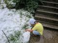 В Прикарпатье выпал град и ливнем затопило улицы