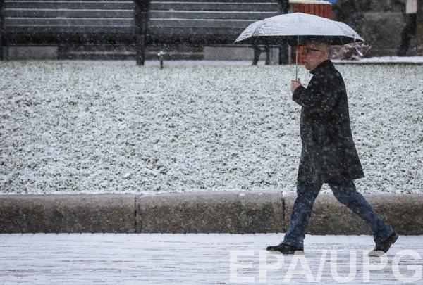 В западных областях возможен снег