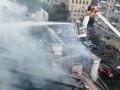 В центре Киева тушили масштабный пожар