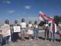 Киевляне вышли на акцию в поддержку белорусов