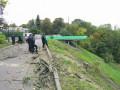 В Киеве на склонах Мариинского парка вырубили деревья