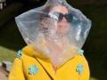 Пакет на голове, Гонконг и Мисс США: фото дня