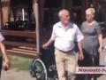 В Николаеве подрались из-за коляски для Тимошенко