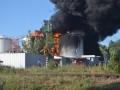 Пожар на нефтебазе под Киевом возобновился