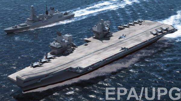Самый новый британский авианосец выходит напервые ходовые тестирования