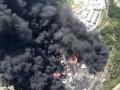 Пожар на нефтебазе под Киевом: появилось видео с воздуха