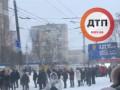 Из-за снега в Киеве выросли гигантские очереди из желающих уехать: Видео