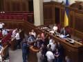 """Депутаты с криками """"Ганьба"""" заблокировали трибуну"""